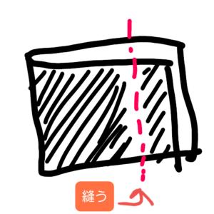 タオルを縫う